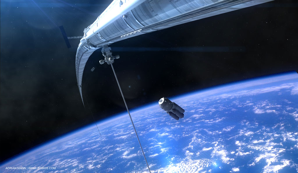 Orbital Ring Porn This Is A Space Elevator To Low Earth