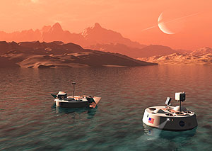 Boats on Titan