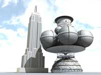 Daedalus with Empire State Building.