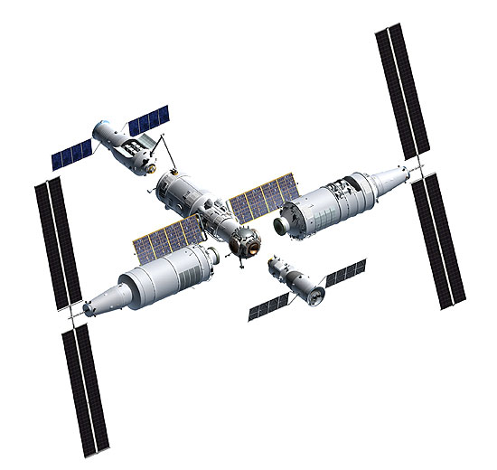 Tiangong 3 exploded view